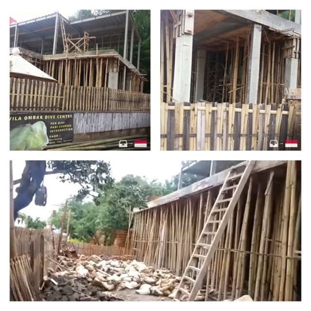 Bamboo shoring used in some works in Indonesia. Foto tirada em Gili (Indonésia). Video and photos sent by @ arturxicopiva1 ///////// Bamboo shoring used in some construction sites in Indonesia. PhPhoto taken at GiliInIndonesia Video and pictures sent by @arturxicopiva1