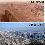 Dubai (1990) vs. Dubai (2016)