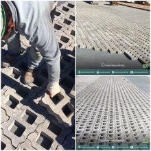 Montagem de blocos intertravados de concreto tipo pisograma. ////// Assembly of concrete pavers (grass blocks).