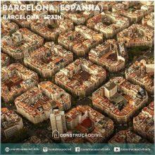 Simetria de construções em Barcelona na Espanha. /////// Construction symmetry at Barcelona (Spain).