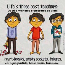 Os três melhores professores da vida: coração partido, bolso vazio e fracasso. Repost do @successfulforeman ////// Life's three best teachers: heart-breaks, empty pockets and failures. Repost from @successfulforeman