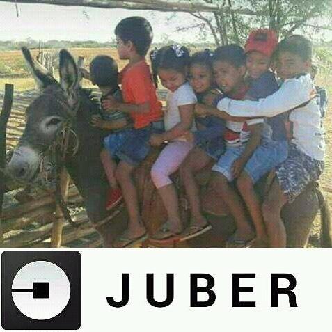 Juber: o Uber de jumento pra criançada  ///// Juber: a different kind of Uber for kids